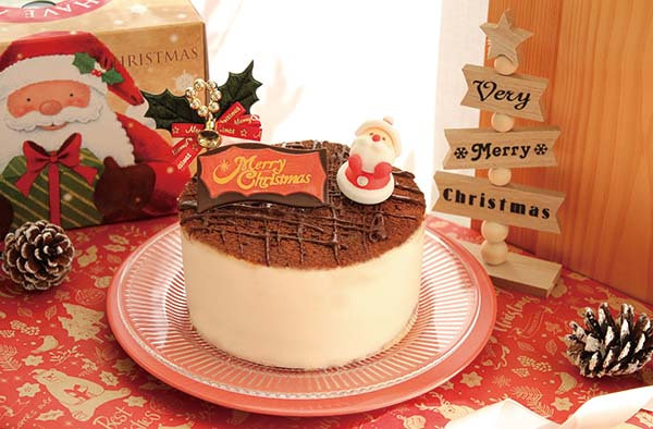 クリスマスケーキ撮影